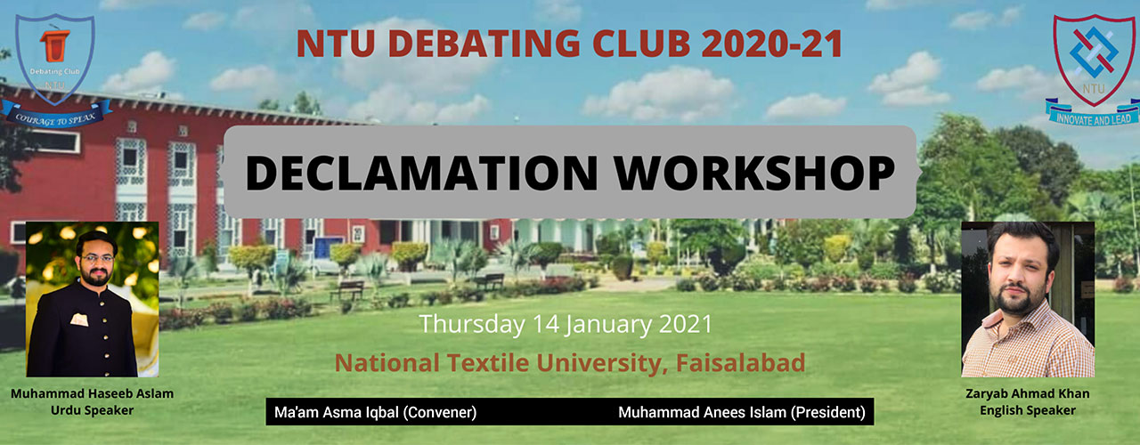 Learning as the transformative process: Declamation Workshop 2021