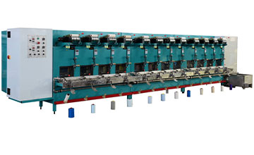 Mutli spindles Single end sizing machine